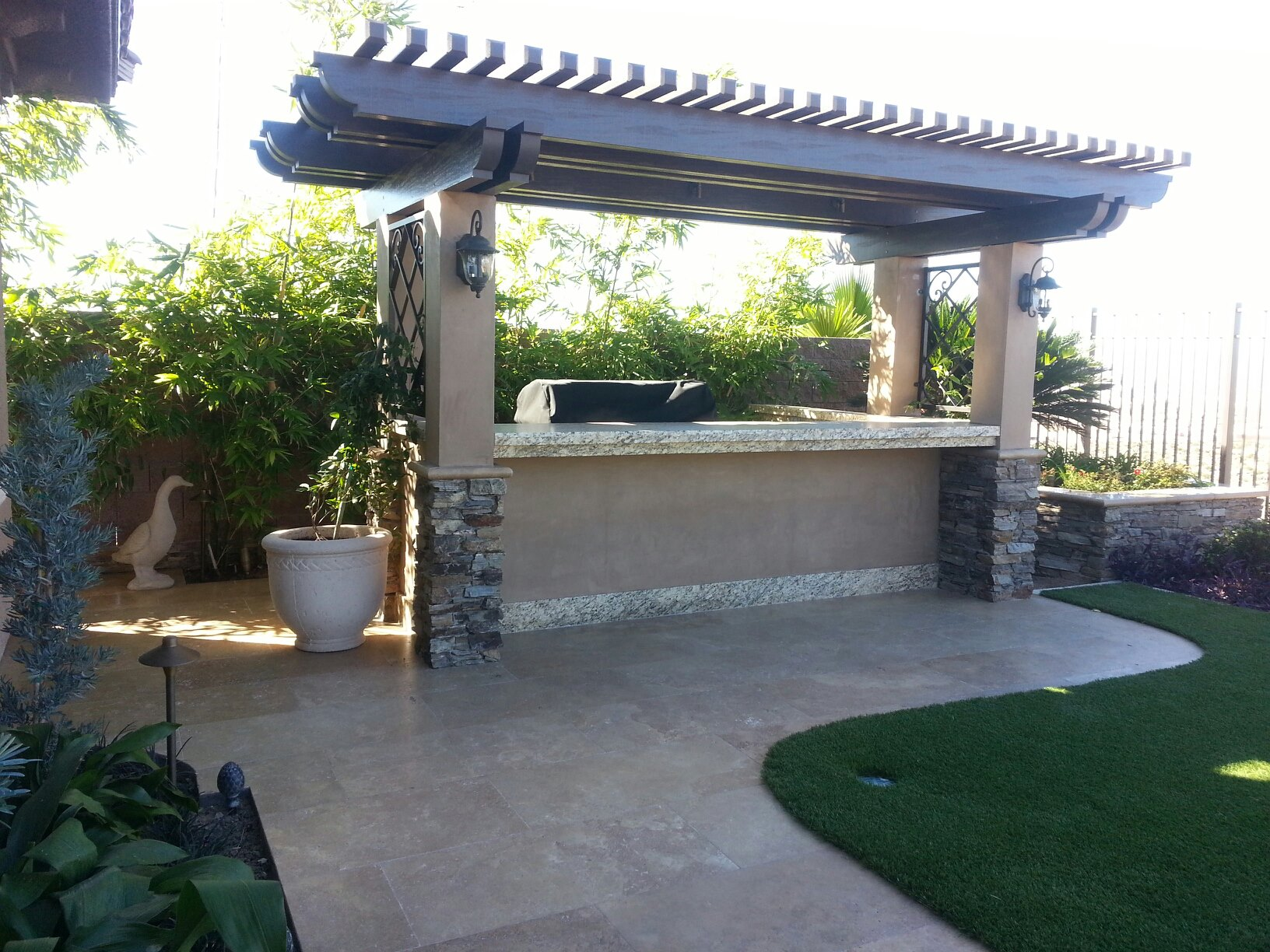 Patio Covers Jeff Lee Landscaping Las Vegas Landscaping with a